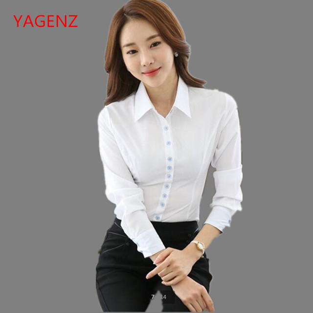 35ea61836d2 Fashion Students Shirt Young women spring overalls Women s professional  clothing NEW 2018 White shirt Cheap clothes china B3109