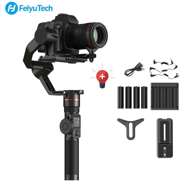 FeiyuTech Feiyu AK2000 3-Eixo Cardan Handheld Câmera Estabilizador 2.8 kg de carga para Sony Canon 5D 6D Marca Panasonic GH5 Nikon D850