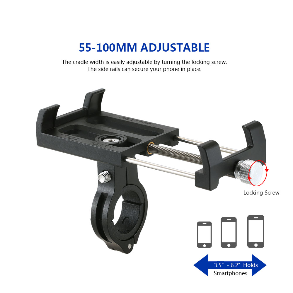 360 Rotating Bicycle Phone Stand 3 5 6 2 inch Smartphone Universal Bike Handlebar Mount Holder GUB Plus 3 Black For Huawei P20 in Phone Holders Stands from Cellphones Telecommunications
