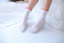 Women Lovely Short Thin Transparent Socks women mesh stocks Ankle Cute Princess