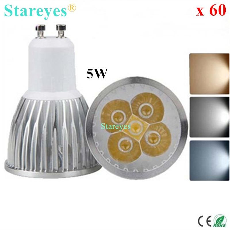 60 pcs Dimmable 5W GU10 E14 MR16 E27 B22 GU5.3 LED Spotlight LED Downlight LED Lamp LED bulb led droplight LED light Lighting