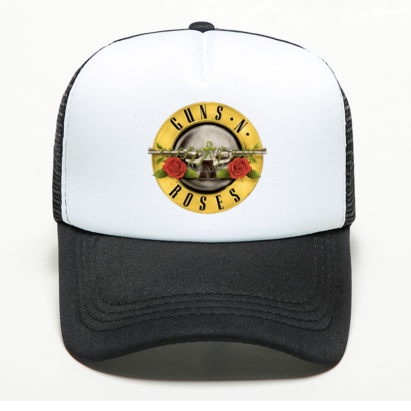 Unisex Adult 2019 New Fashion Guns N Roses   Baseball     Cap   Snapback Trucker Dad's Hat Breathable Adjustable Bone Mesh   Cap