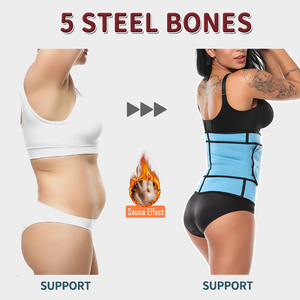 Image 3 - High Compression Waist Trainer Tummy Trimmer Zipper Neoprene Cincher Fitness Corset Body Shapers Slimming Abdominal Belt