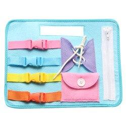Zabawki do wczesnej edukacji dla dzieci nauka noszenia ubrań zapinana na zamek klamra płytka edukacyjna dla dzieci AN88