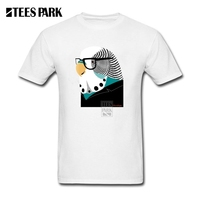 T Shirt Mens Bird Brain Homem Slim Fit Short Sleeve Clothes Low Price Homem Funny T