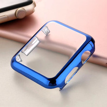 Lbiaodai Frame Screen Protector Case For Apple Watch band 42mm 38mm iwatch Series 3 2 1 protective Case plating cover shell crested watch pc frame protective case for apple watch band 42mm 38mm iwatch series 3 2 1 colorful plating cover shell