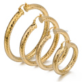 6mm Shiny Cut Womens Girls Round Tube Hoop Earrings Yellow Gold Filled GF Snap Closure Fastening Wholesale Gift Jewelry LGEM11