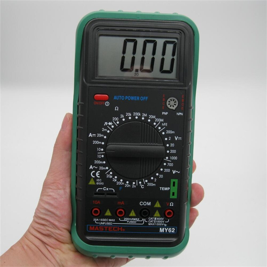 MASTECH MY62 Digital Multimeter Handheld DMM w/Temperature Capacitance & hFE Test Testers Meters Ammeter Multiteste купить в Москве 2019