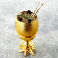 Bar ware wine set personality stainless steel pineapple shape cocktail cup kitchen coffee table goblet MugsZP5041139