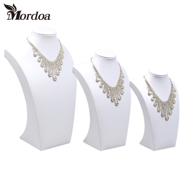 Mordoa White Necklace Display Model Shelf Accessories Holder Jewelry