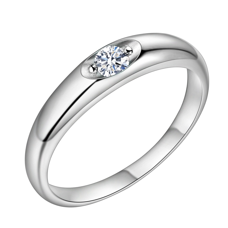 SAY Fashion jewelry silver plated women wedding ring