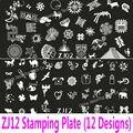 Zj 12 конструкции : 1 шт. штамповка плиты большой штамповка шаблона большой изображение картины для ногтей передача печать ногтей трафарет Konad