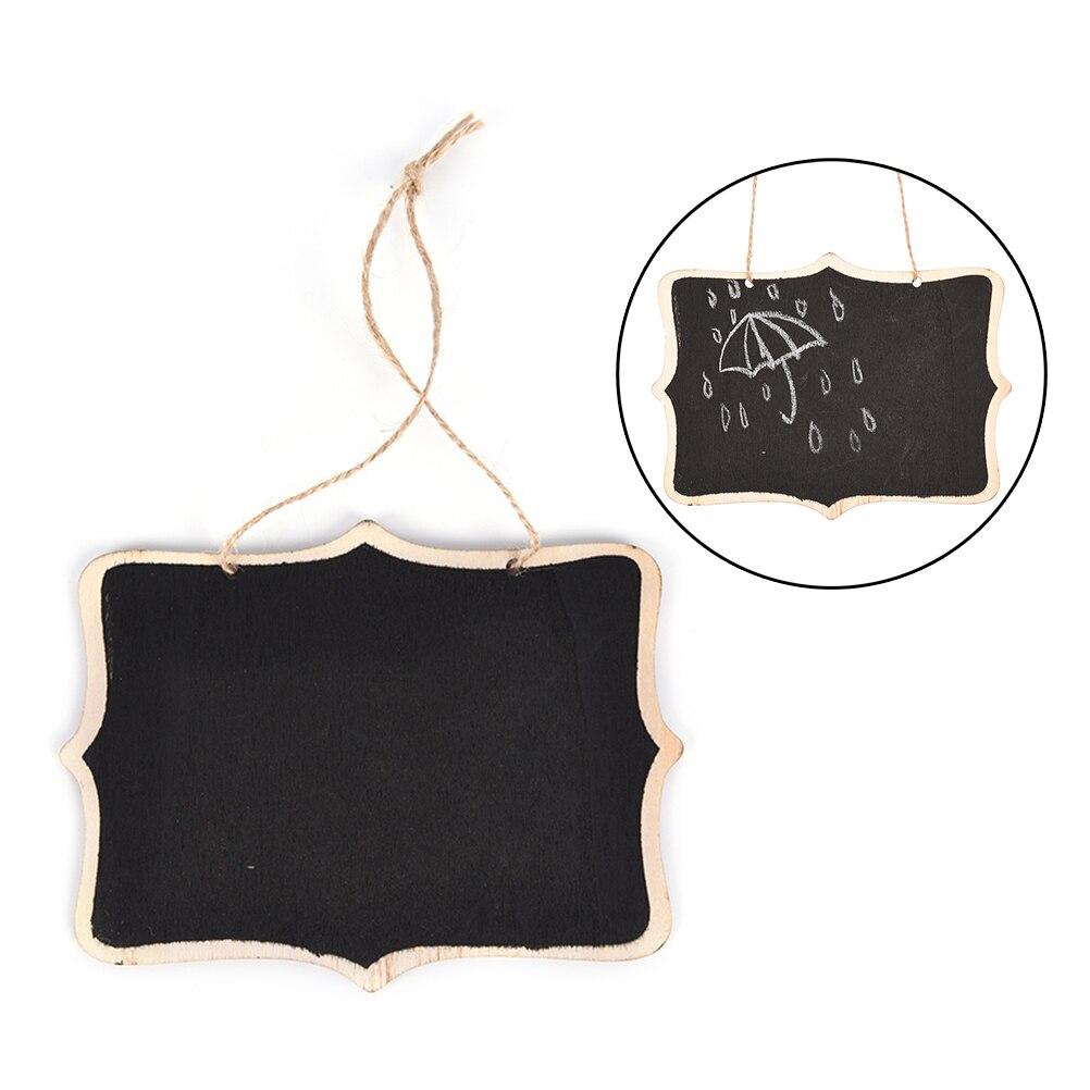 1pcs 12*16*0.25cm Wooden Wall-mount Black Board With Rope/Wood Blackboard Memo/Message Board HOT Presentation Boards