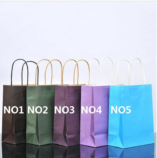 with lot paper Jewelry handles gift Party Festival for Gifts Quality  40PCS bag bag Birthday Wedding High 21x15x8cm Kraft