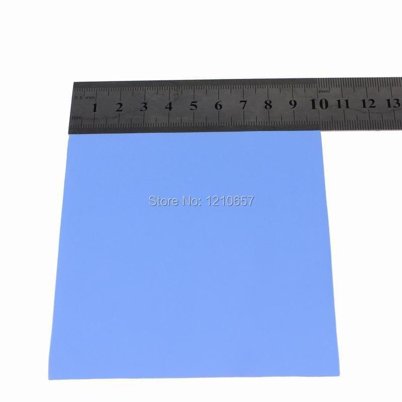 5 db sok kék 100mm x 100mm x 1mm 1mm számítógépes GPU CPU VGA vezetőképes szilikon hőszigetelő