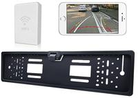 WiFi EU License Plate Frame Car Camera Wireless Vechile Backup With Guiding Line For IOS AND