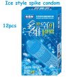 (24pcs )3D spaces condom g spot condom latex ice style condoms for men spike condon ribbed camisinha with retail package