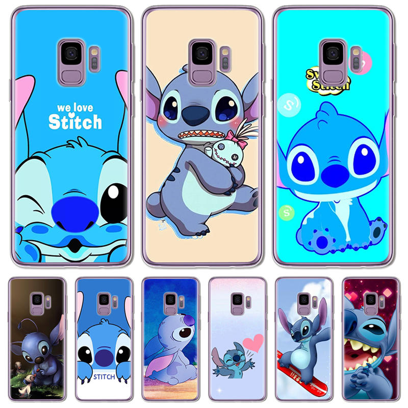Phone Bags & Cases Cute Cartoon Stich Coque Shell Soft Silicone Tpu Phone Case For Samsung Galaxy S6 S7 Edge S8 S9 Plus Note 9 Note 8
