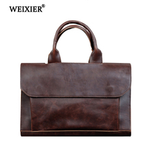 WEIXIER Brand 2019 New Designer Shoulder Bag PU Leathe Fashion Hand Travel Casual Men Luxury Crossbody Business