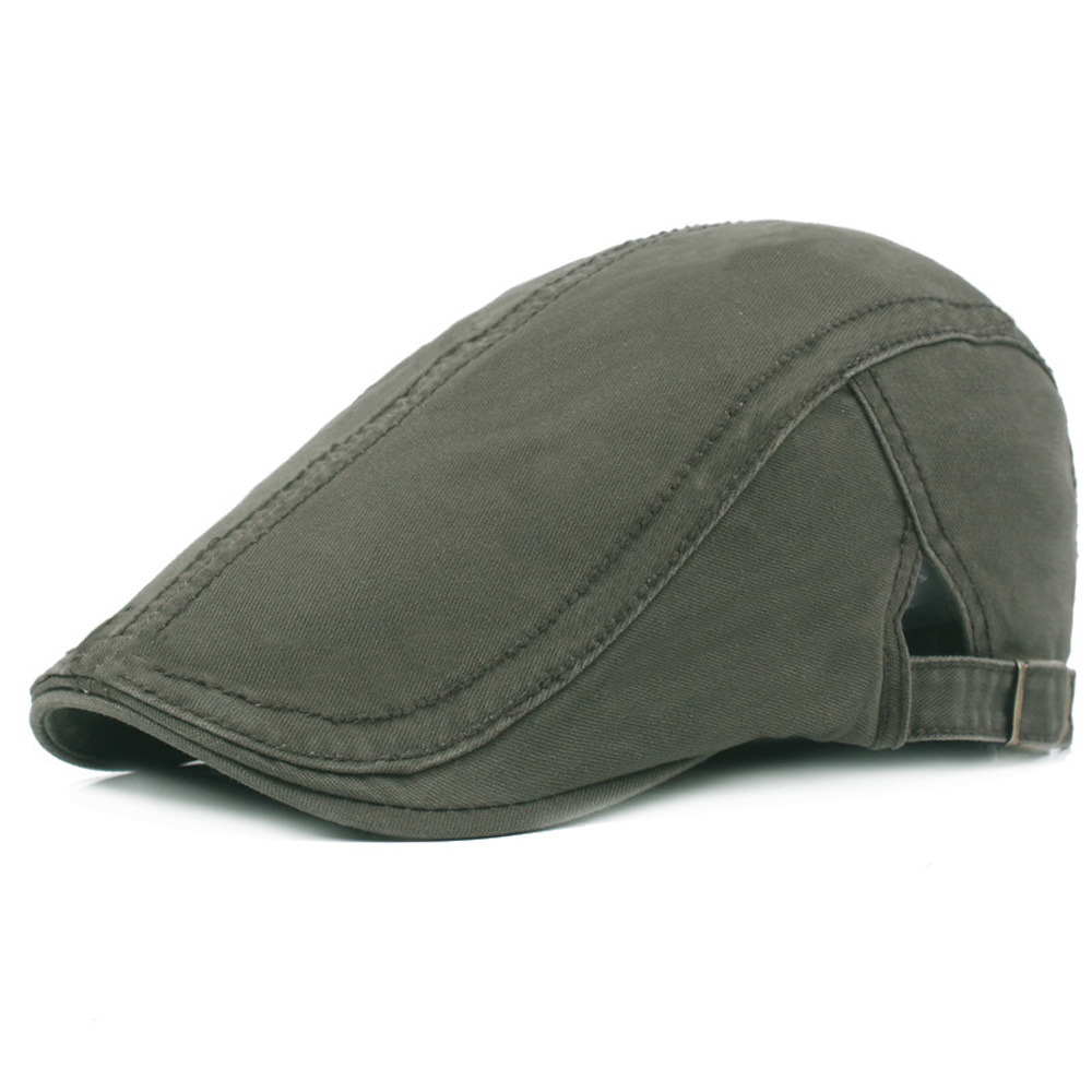f6f5d0c1ef5 Men Women Classic Solid Color Driving Newsboy Hat Casual Cabbie Sun Beret  Cap HATCS0239-in Berets from Apparel Accessories on Aliexpress.com