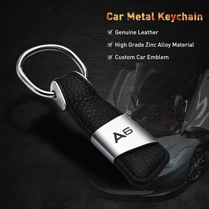 KRADA for Audi A3 A4 A7 B6 B8 A6 C6 80 B5 B7 A5 Q5 Q7 TT 8P 100 8L C7 8V A1 S3 Q3 A8 B9 Sline Car Styling Keychain Accessories