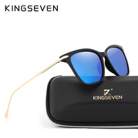 KINGSEVEN Retro Round Candy Color Polarized Sunglasses Ladies Brand Designer Luxury Sunglasses Men S Metal Frame