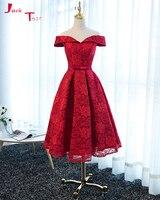 Jark Tozr Vestidos De Noiva Boat Neck Red Lace Simple A Line Wedding Dresses 2017 Cheap