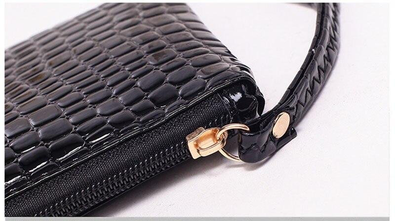 New Mini Day Clutches Women's Bag Korean Version Crocodile Pattern Clutch Bag Ladies Mobile Phone Bags Wallet PU Leather Handbag (13)