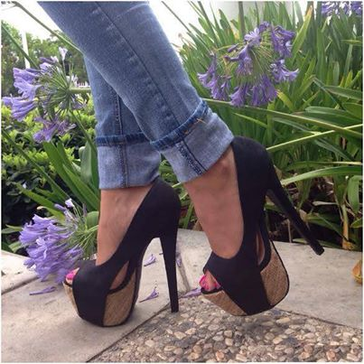 Show thin the spring and autumn period and the single shoes fashion women's shoes black fish mouth high-heeled shoes with shallo