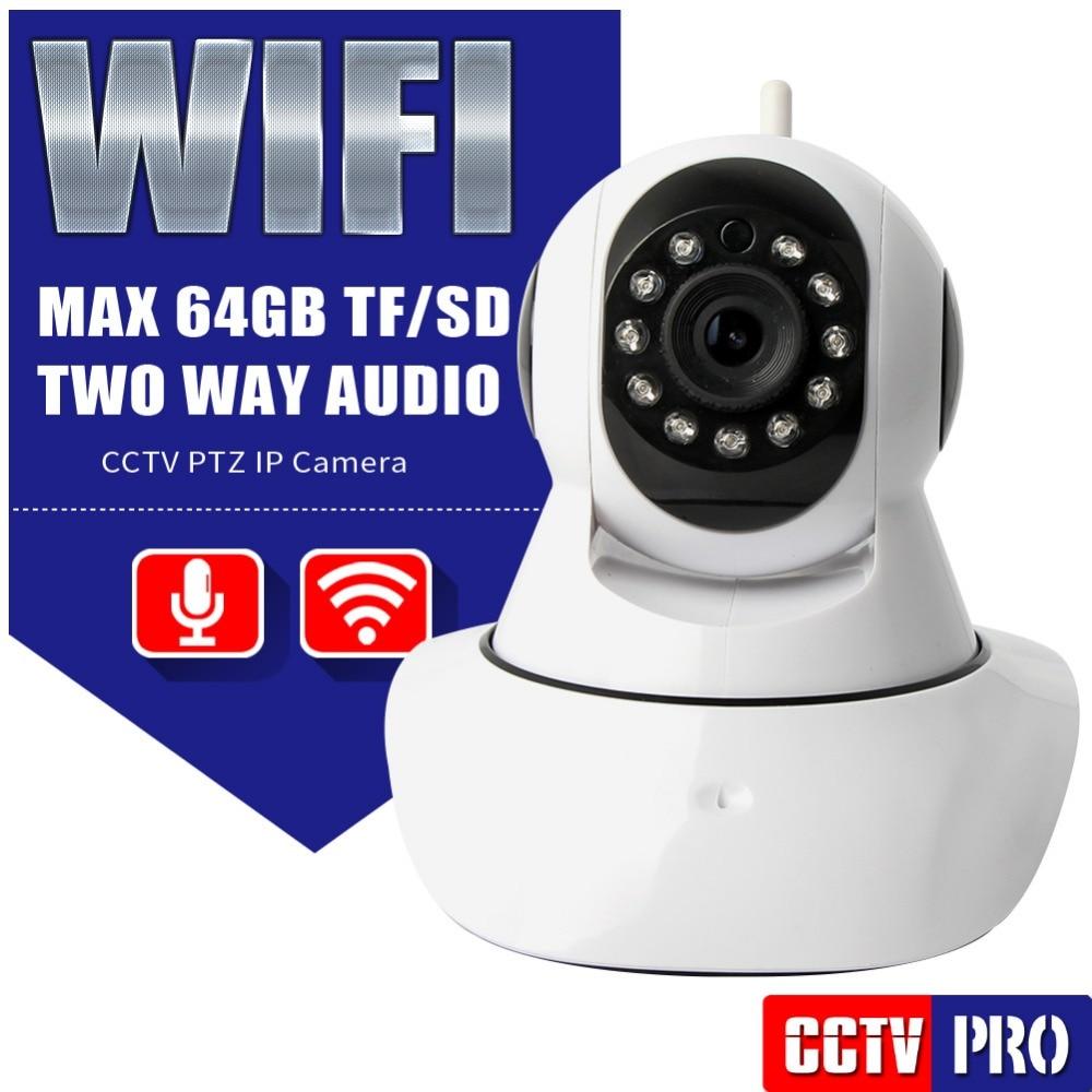 HD 720P PTZ Wireless IP font b Camera b font WIFI IR Cut Night Vision Two