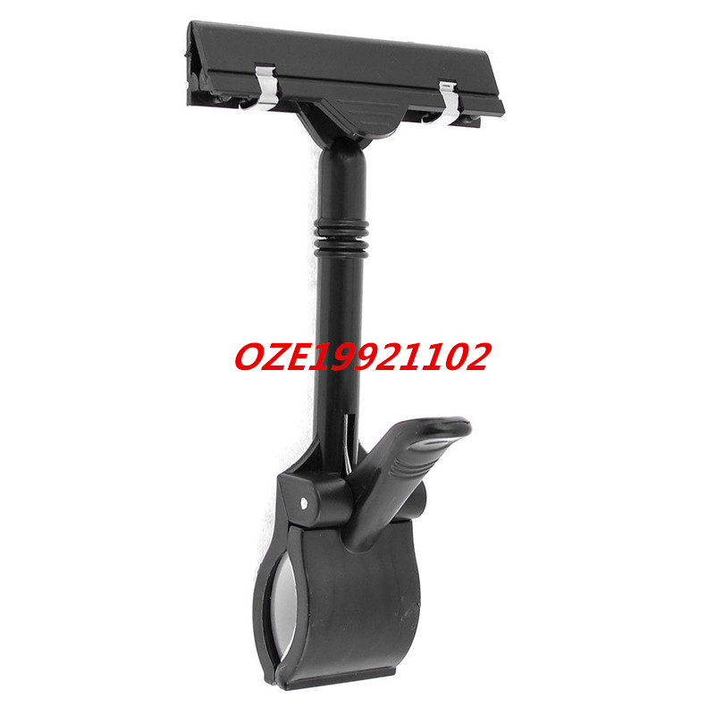 1PCS Multiple Shops Black Plastic Jointed Dual Clamps Pop Thumb Display Clip