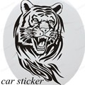 newest reflective car tail spare tire stickers new design 60 cm big size tiger car head engine cover decor sticker car styling