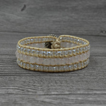 Boho Wrap Bracelet Rhinestone Crystal Multilayer Leather Bracelets For Women Charm Statement Fashion Jewelry Gifts