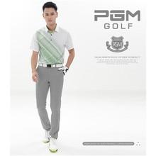 Pgm de golf hommes de printemps d'été pantalon polyester drap pleine longueur pantalons imperméables 7 couleurs xxs-xxxl épaisseur moyenne