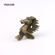 Free shipping 20Pcs 28*39mm Antique Bronze Horse Head Jewelry Gift Box Wood Case Decorative Feet Leg Corner Protector