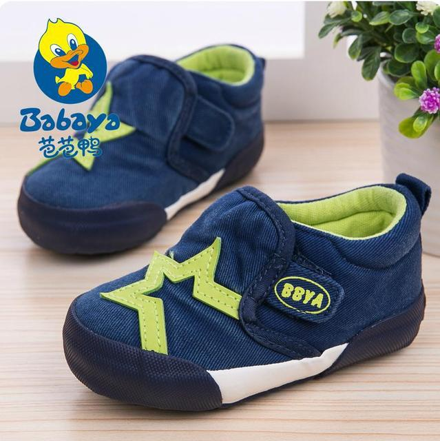 2015 casual brand Autumn new star patchwork  oft cotton canvas baby girls boys casual toddle infant first walkers fashion shoes