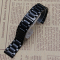 Watchbands replacement 14mm 15mm 16mm 17mm 18mm 19mm 20mm 21mm 22mm Black Stainless Steel Watch Band Strap Straight End Bracelet