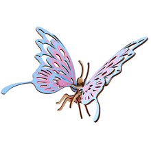 Butterfly 3D Wooden Model Building Kits Toys Hobbies Gift for Children Adult Educational Puzzle Assembly Kids Birthday