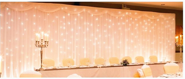 hot sale 3x6m silk swag fabric wedding party christmas decoration backdrop curtain with led. Black Bedroom Furniture Sets. Home Design Ideas