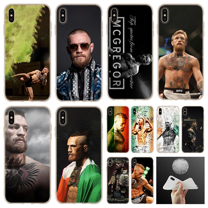 case Conor McGregor <font><b>UFC</b></font> soft silicone Phone Case cover For iPhone 7 8 Plus XR XS Max 5.8 <font><b>6</b></font>.5 <font><b>6</b></font>.1 2019 4 5 5S SE <font><b>6</b></font> 6s case image