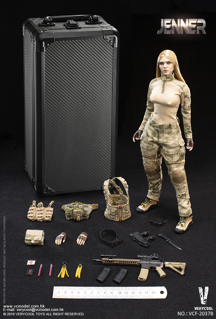 VERYCOOL VCF 2037B A TACS FG Double Women Soldier JENNER B Style 1 6 Figure
