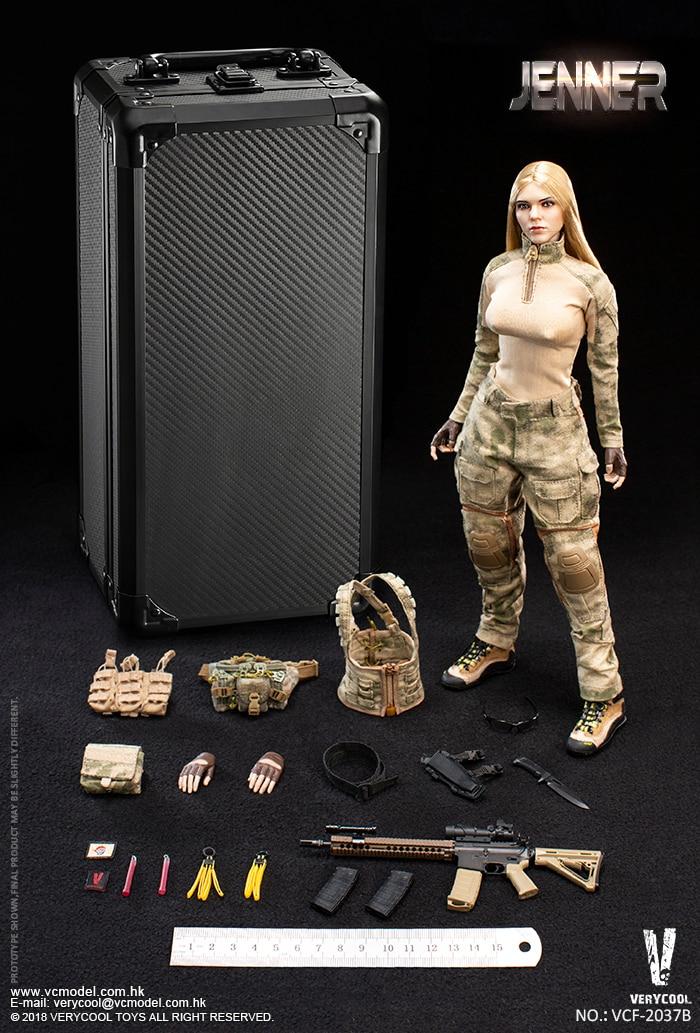 VERYCOOL VCF 2037B A TACS FG คู่ผู้หญิงทหาร JENNER B สไตล์ 1/6 รูป-ใน ฟิกเกอร์แอคชันและของเล่น จาก ของเล่นและงานอดิเรก บน   1