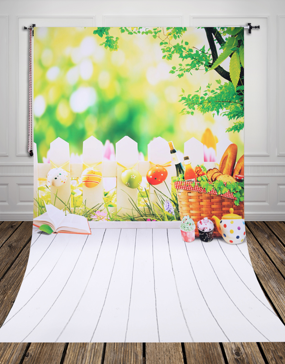 Background image 9971 - Vertical Hot Sale Art Fabric Photo Studio Backdrops Pc Painted Newborn Baby Easter Eggs Backgrounds D
