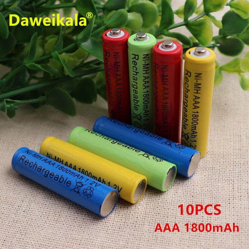 10PCS Daweikala 1.2v AAA 3A NIMH 1800mah AAA Battery Rechargeable aaa Batteria ni-mh bat ...
