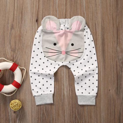 Casual Toddler Bottoms Pants Hot Infant Cartoon Harem Pants Baby Boy Animal Trousers 2