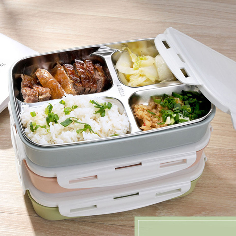 buy portable 4 grids cute mini japanese bento lunch boxs with compartments. Black Bedroom Furniture Sets. Home Design Ideas