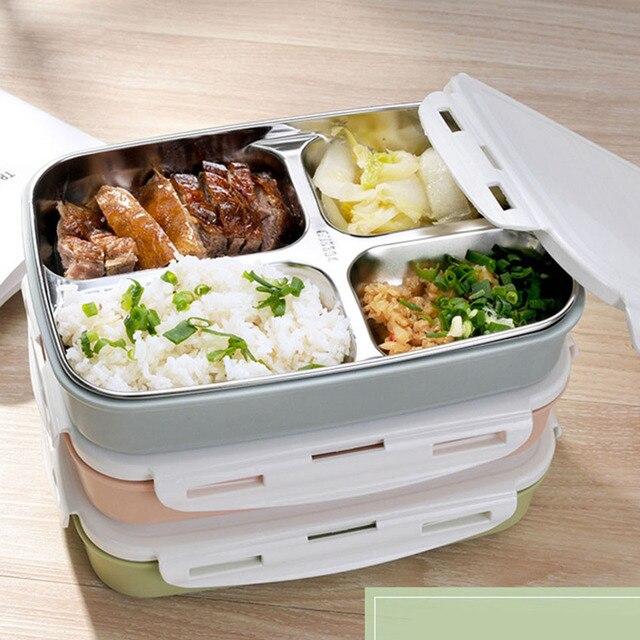 Przeno ny 4 grids liczne mini japanese bento pojemniki - Lunch box micro onde ...
