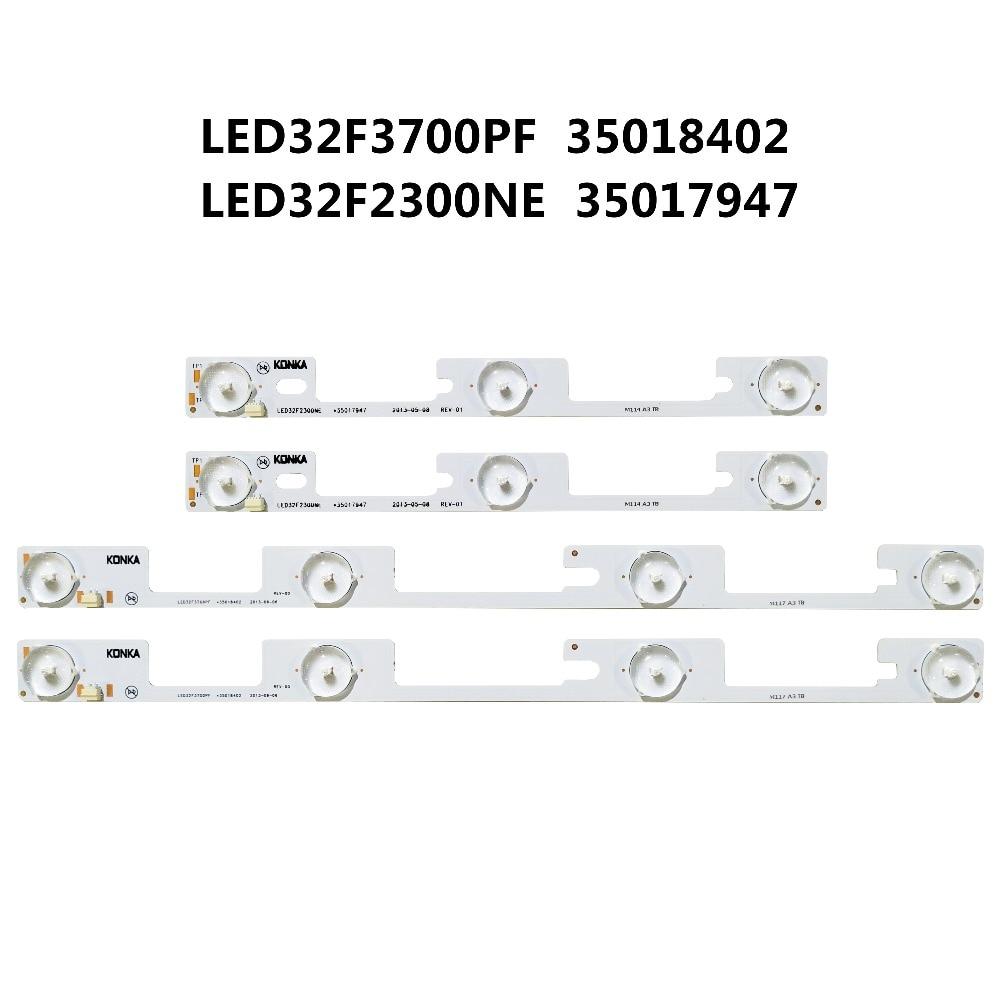 100pcs/lot New For Konka 50pcs Led32f3700pf/50pcs Led32f2300ne Light Bar *35017947 4in1 Backlight Lamp Led Strip 6v Possessing Chinese Flavors *35018402