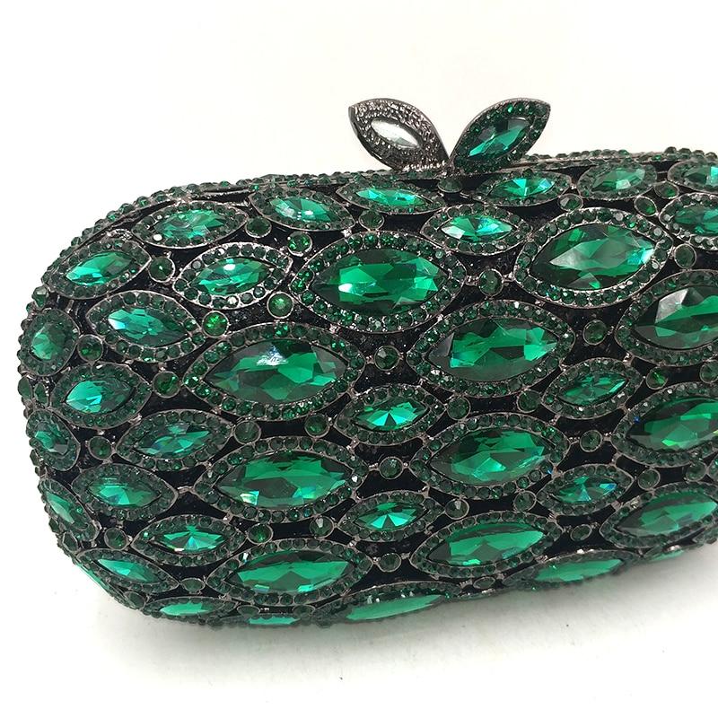 Dames send Noce Nuptiale Bourse 1 Color À Pictures Femmes Main Élégant Sac Embrayages Luxe Soirée Cristal Nigeria Mode Diamants Green De qxw1tp0WH