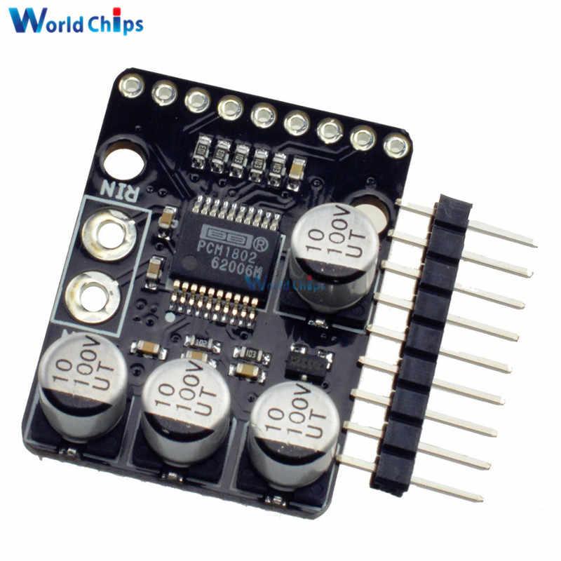 PCM1802 الصوت ستيريو A/D محول ADC فك 24bit 96kHz الرقمية PCM AV مكبر للصوت لوحة مشغل ANALOG-INPUT وحدة 3.3 فولت/5 فولت